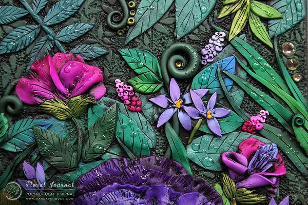 花のブックカバー 2