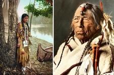 インディアン(ネイティブ・アメリカン)の貴重なカラー化写真