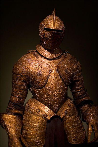 ウィーンの民族博物館に展示されている鎧