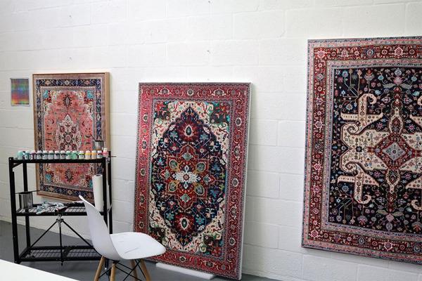 ゴージャスなペルシャ絨毯…を限りなく再現した絵画 (2)