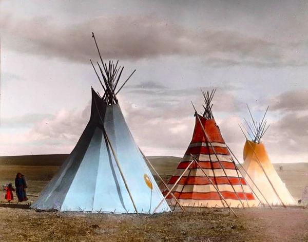インディアン(ネイティブ・アメリカン)の貴重なカラー化写真 (16)