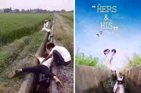 結婚写真の裏で頑張るカメラマンの努力画像 (20)