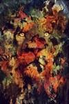 二重露光スタイルによる水彩画の中の野生動物