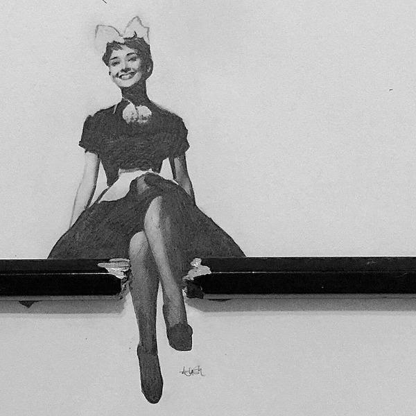 超小さいのに写実的!鉛筆の芯で描くミニチュア肖像画 (4)