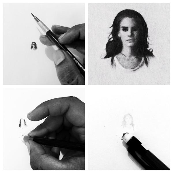 超小さいのに写実的!鉛筆の芯の先で描くミニチュア肖像画 (11)