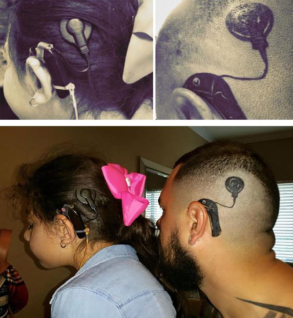 #4 娘と同じインプラントのタトゥーを入れる