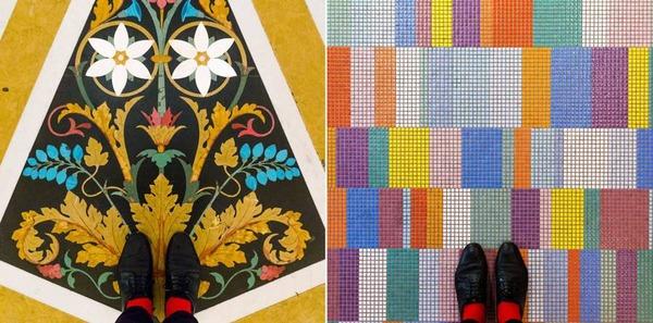 色んな床いっぱい。イタリア、ヴェネツィアの床のデザイン (1)