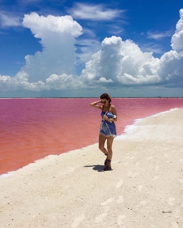 メキシコの塩湖が美しいピンクでミラクルファンシーだよー (4)