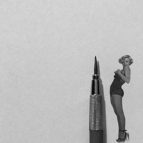超小さいのに写実的!鉛筆の芯で描くミニチュア肖像画 (8)