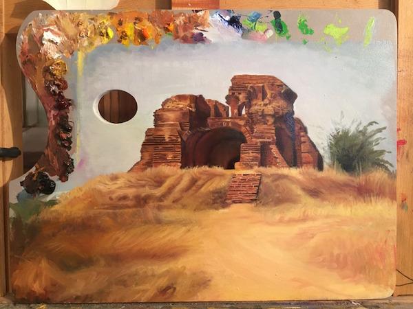 パレットをキャンバスにして描かれた絵画作品 (15)