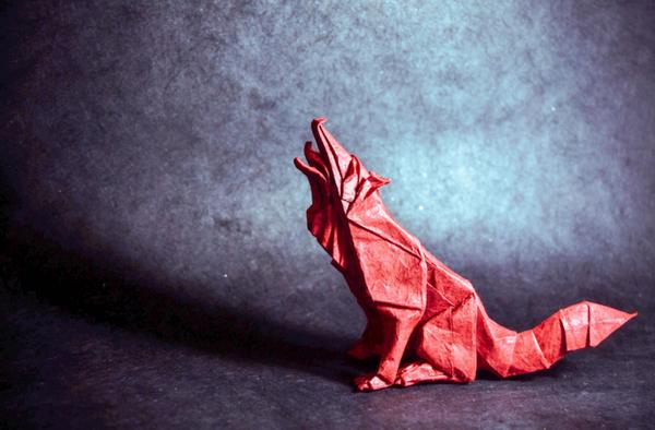 一枚の紙から折り紙で作る動物!折り紙アート (4)