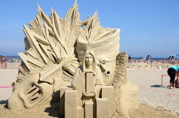 砂の彫刻コンテスト ハンプトン・ビーチ (12)