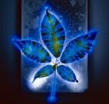 8万ボルトの電流で輝く感電した花や植物の写真
