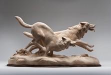 生き生きとした躍動感!野生動物の木彫りの彫刻作品