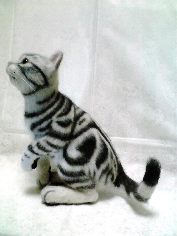 羊毛フェルトのリアル猫人形18