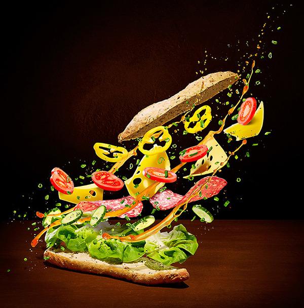 躍動する料理や食べ物の画像 (10)