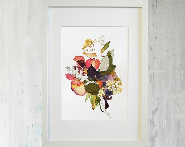 葉や花で自然を描く!植物を素材にした押し花の絵 (3)