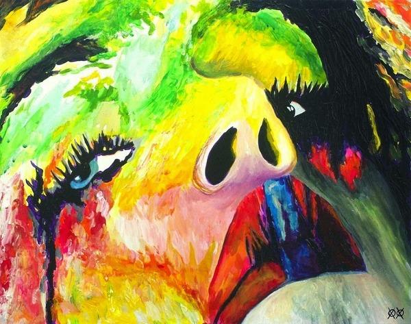 全盲の画家、ジョン·ブランブリットの絵画8