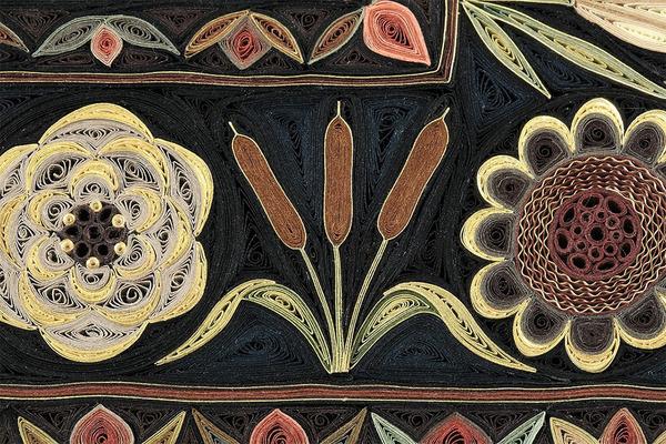 紙で作られた絨毯など、超大作なペーパークイリングアート! (3)