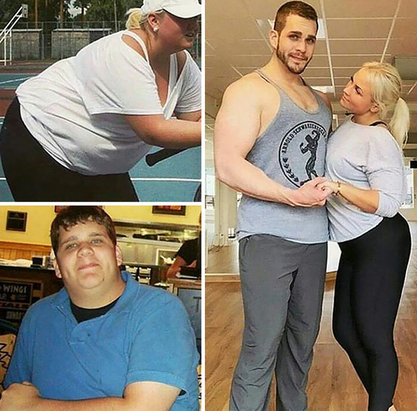 【比較画像】太ったカップルが痩せた (9)