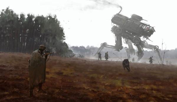 レトロな時代背景に機械的なSF要素。戦争を描いた空想世界 (19)