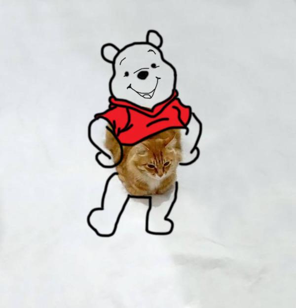 才能の無駄遣い?香箱座りの猫の画像にみんなで落書き! (3)