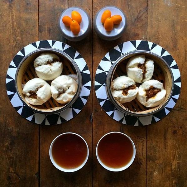 美味しさ2倍!毎日シンメトリーな朝食写真シリーズ (11)