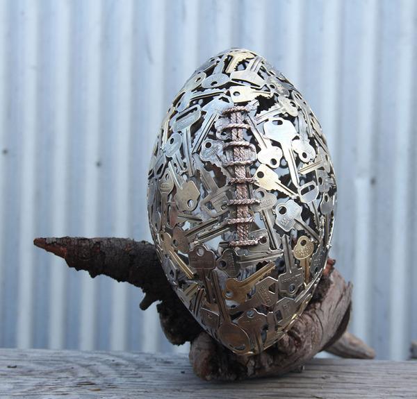金属彫刻のリサイクルアート michael-moerkey 10