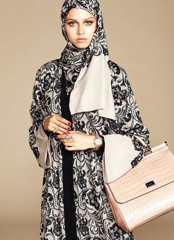 ヒジャブとアバヤのモダンファッション by ドルチェ&ガッバーナ (12)