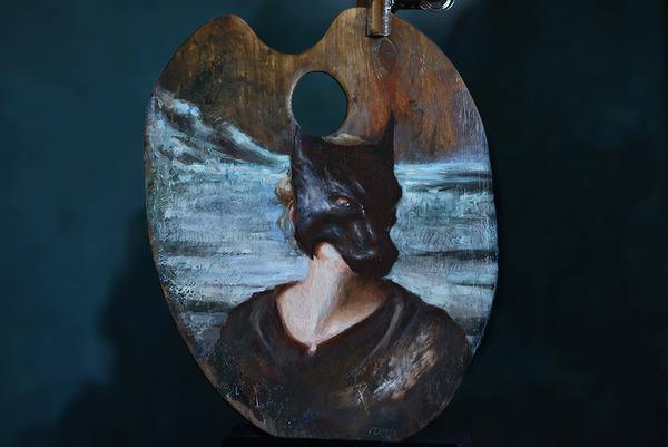 パレットをキャンバスにして描かれた絵画作品 (13)