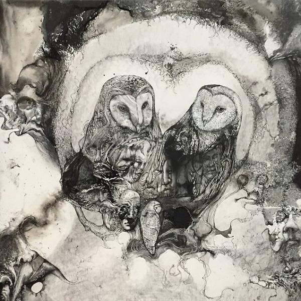 インクを注ぎ、飛び散らせてカオスなイラストレーションを描く (14)