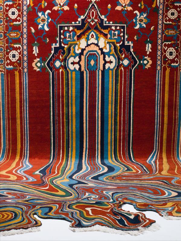 歪む、溶ける、飛び出す!不思議な形をした絨毯 (1)