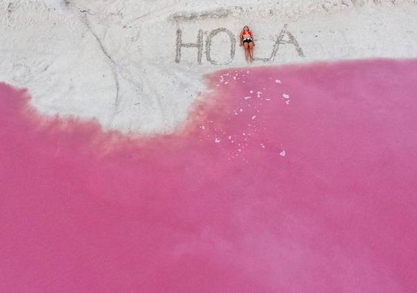 メキシコの塩湖が美しいピンクでミラクルファンシーだよー (2)