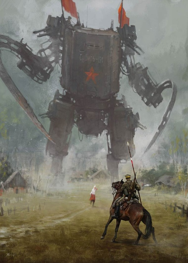 レトロな時代背景に機械的なSF要素。戦争を描いた空想世界 (17)