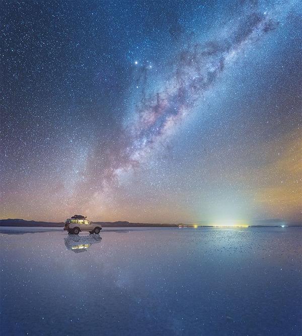 夜空に跨る天の川!ボリビア、ウユニ塩湖の星空が綺麗過ぎる (3)