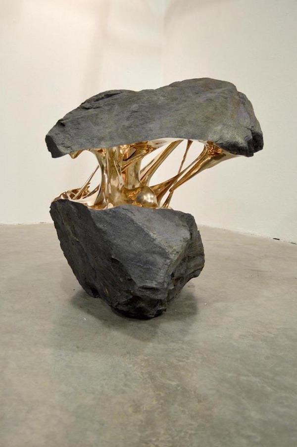 ねばねば!?液状化しているように見える彫刻作品 (4)