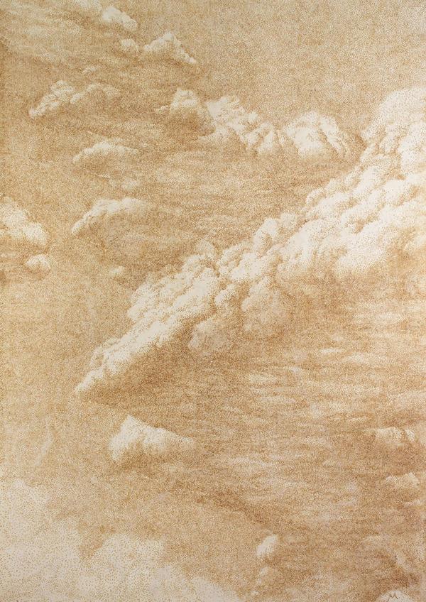 お香で紙に絵を描くアート8