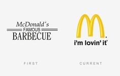 有名な会社のロゴデザイン。昔のロゴと現在のロゴを比較