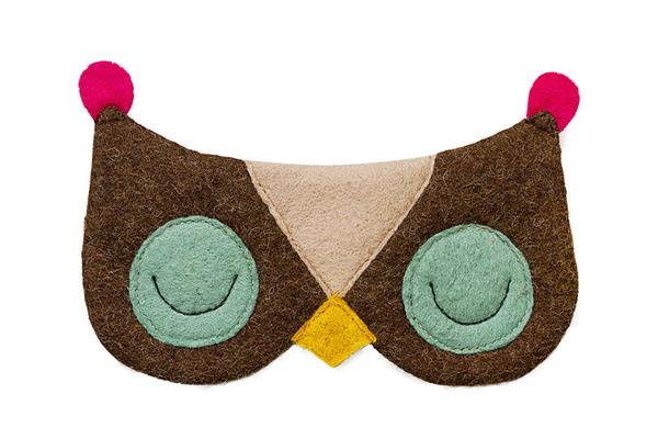 フクロウのアイマスク