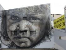 壁に描かれたハイクオリティな肖像画アート