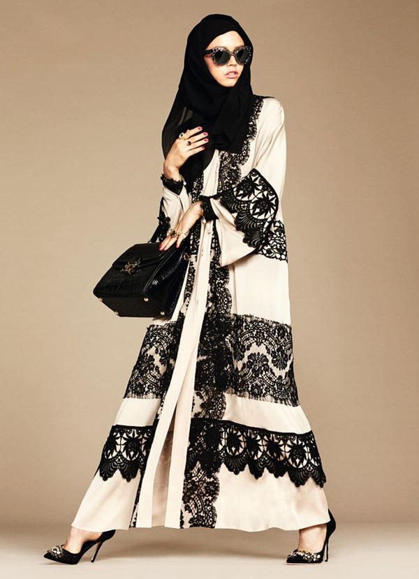 ヒジャブとアバヤのモダンファッション by ドルチェ&ガッバーナ (3)