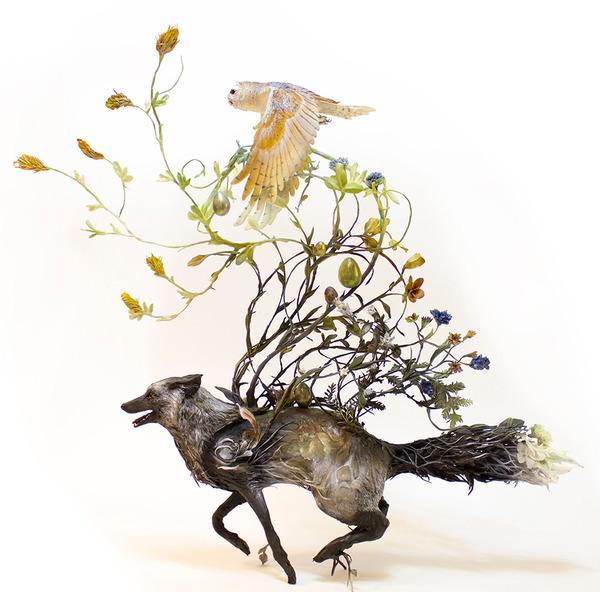 動物と植物が融合した幻想的な彫刻!Ellen Jewettの新作紹介 (3)