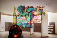 立体的な3Dグラフィティアート!アナモルフィックな壁画を描く