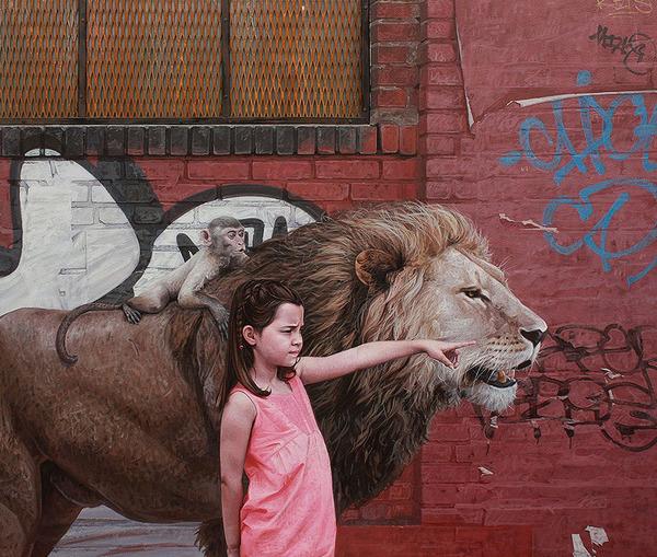 少女と動物と街。壊れた世界のコントラストをリアルに描く (10)