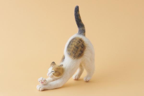 羊毛フェルトのリアル猫人形13