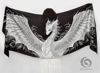 ドラゴン!竜を描いたシルクのスカーフ