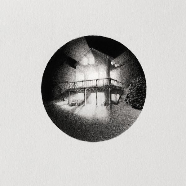 なんか神秘的。光と闇が描かれた小さなモノクロの絵シリーズ (1)