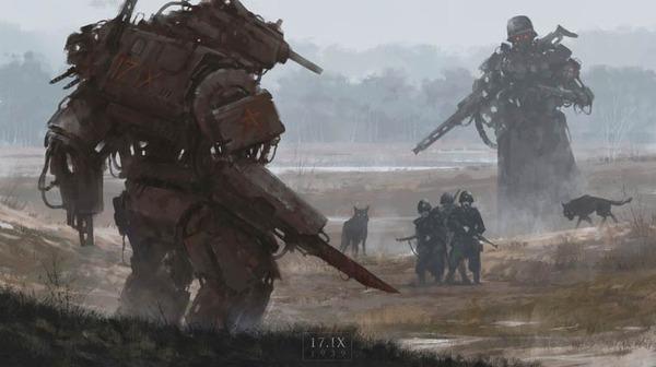 レトロな時代背景に機械的なSF要素。戦争を描いた空想世界 (18)