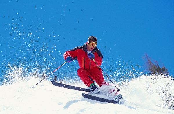 スキーをはじめた