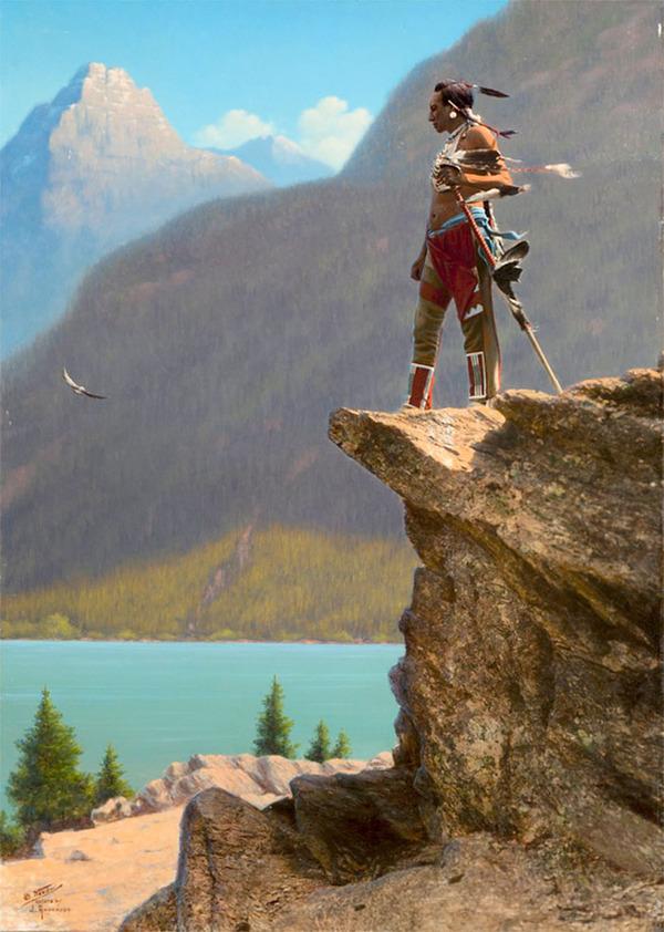 インディアン(ネイティブ・アメリカン)の貴重なカラー化写真 (45)